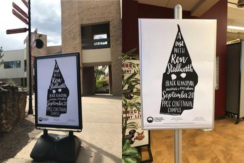 PPCC Black Klansman Event Poster