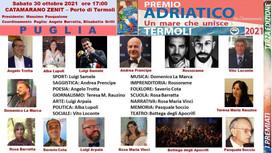 """""""Premio Adriatico, un mare che unisce"""", tutti i nomi dei premiati pugliesi"""