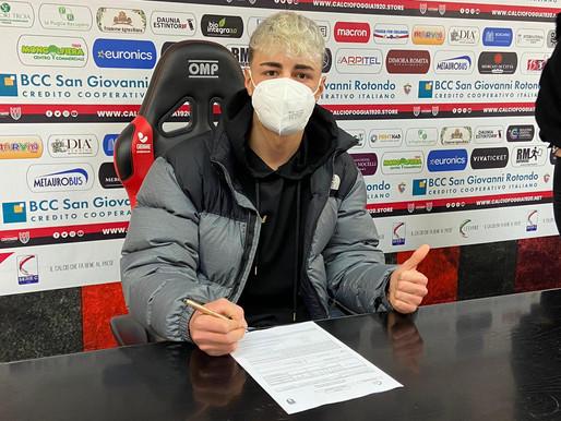 Filippo Di Lella De Bergolis, giovane calciatore garganico nella Primavera del Foggia Calcio