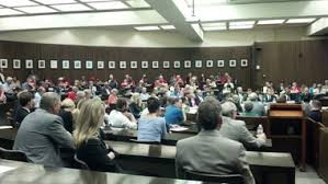 Image of what a PSC hearing Deregulate Electric Industry would look like