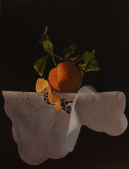 Orange and white cloth