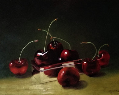 Cherries and silver box