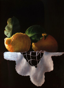 Lemons and white cloth