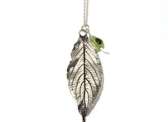 Silver Elder Leaf Pendant