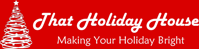 That Holiday House Logo - White With Red