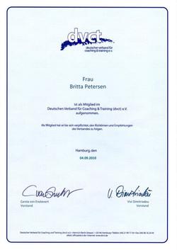 Mitgliedschaft dvct 2010