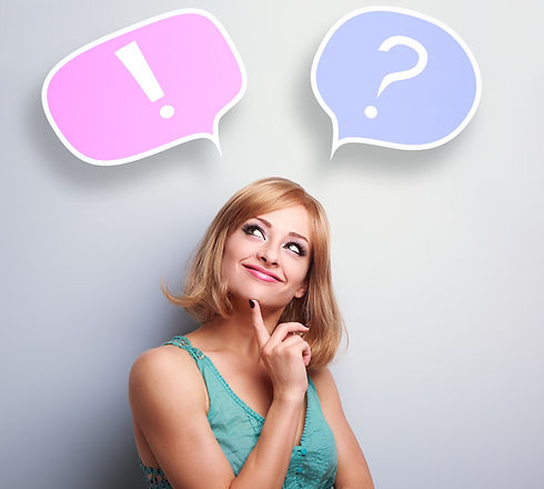 Thinking Cute Young Woman With Question