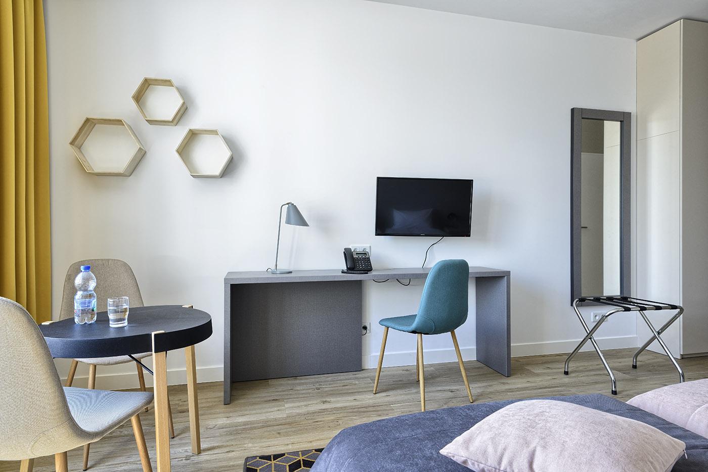 Pokój w aparthotelu