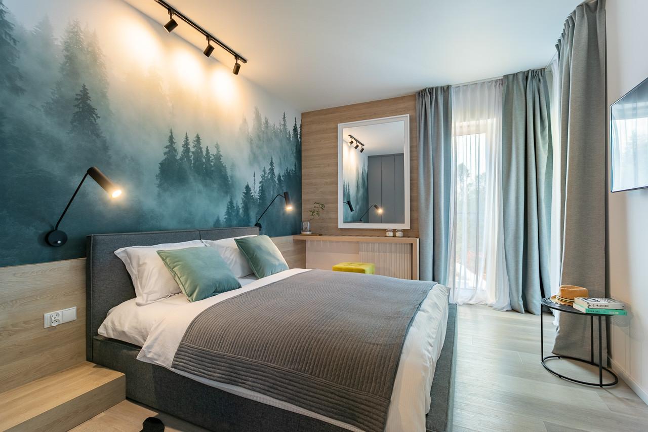 Apartament pokazowy w WISEŁCE  sypialnia