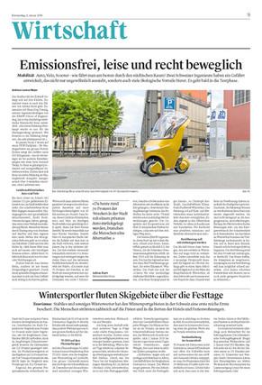 Emissionsfrei, leise und recht beweglich - BICAR im St. Galler Tagblatt