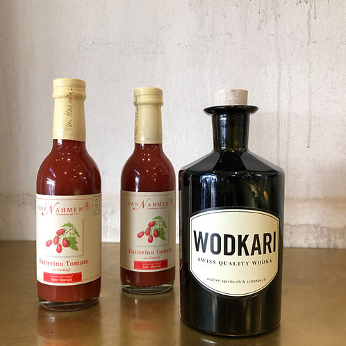 Wodkari Wodka 50cl und 2x Tomatensaft van Nahmen a 20cl
