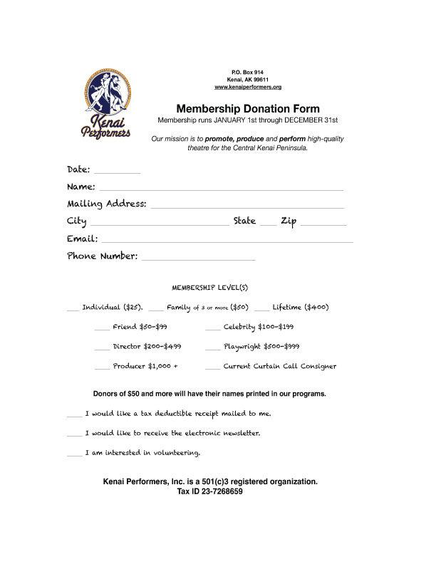 Kenai-Performers-Membership-Donation-For