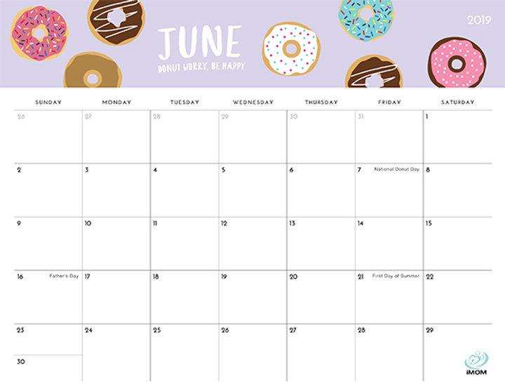 June-2019-Printable-Calendar-with-Holida