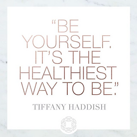 "A quote from tiffany haddish that says ""Be yourself, It's the healthiest way to be"""