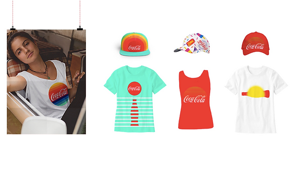 Collection of Coca-colas summer campaign merchandise