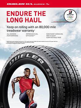 Bridgestones duelerH/L tire product