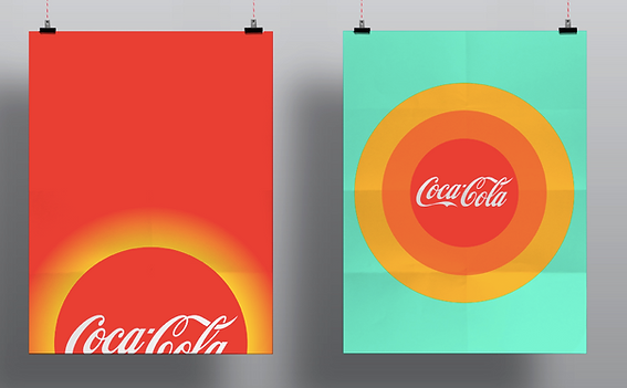 Two different themes for coca-colas summer campaign