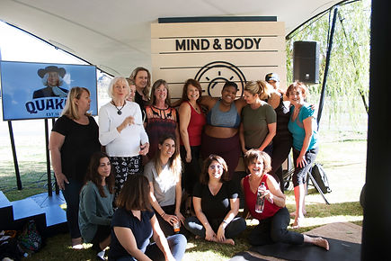Attendees  at the quaker oats thrive wellness festival