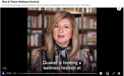Ariana Huffington launches the Thrive Wellness Festival
