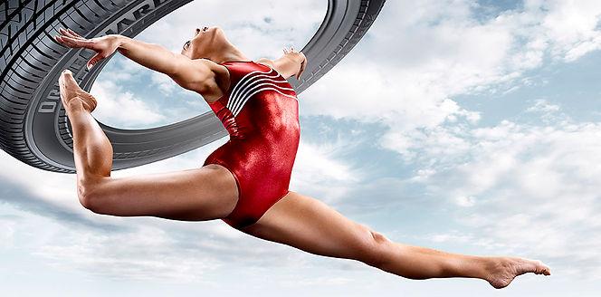Athlete posing for Bridgestone sports