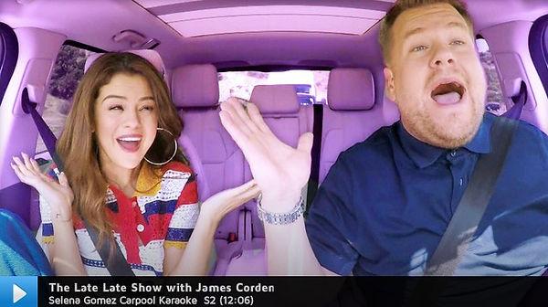 Selena Gomez and James Corden Carpool Karaoke premier