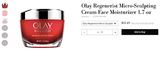 Olays micro-sculpting moisturizer