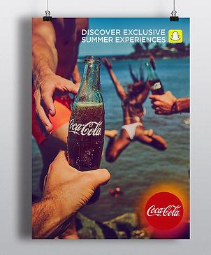 Coca-colas and snapchats summer campaign print ad
