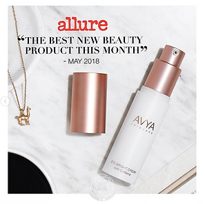 """The best new beauty prodcuct this month"" Allure magazine for AVYA"