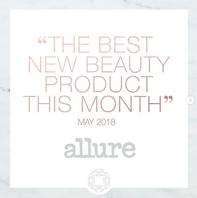 "Pink text that says ""The best new beauty product this month"" by allure magazine"