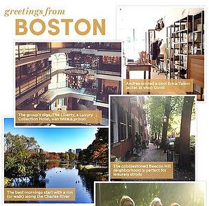 Starwood Hotel Boston Greeting Card