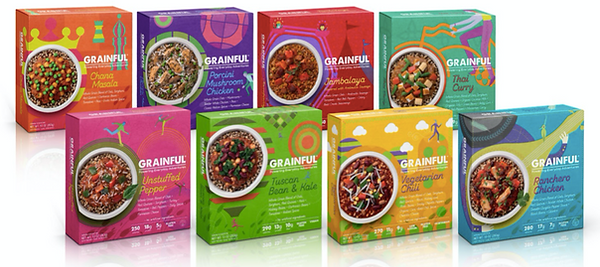 Different flavors of Grainfuls Whole Grain Frizen based meal