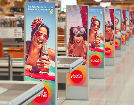 Posters of coca-cola and snapchats summer campaign