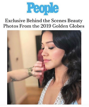 Gina Rodriguez getting ready for the golden globes