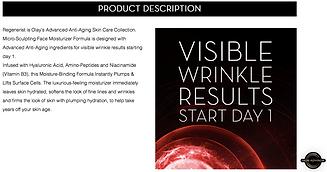 Olay wrinkle cream face product description