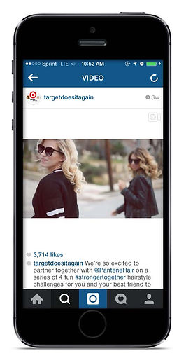 Targets Offical Instagram presenting their collaboraton with pantene