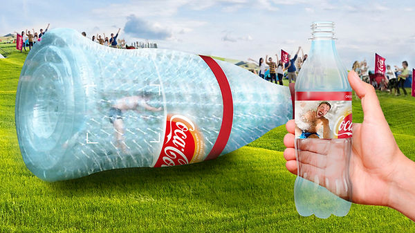 Coca-Cola bottle Inflatable roller float