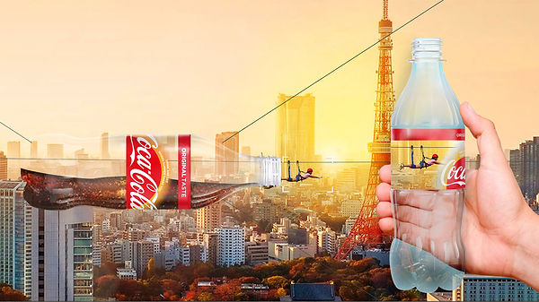 Coca-colas bottle with a zipline ride