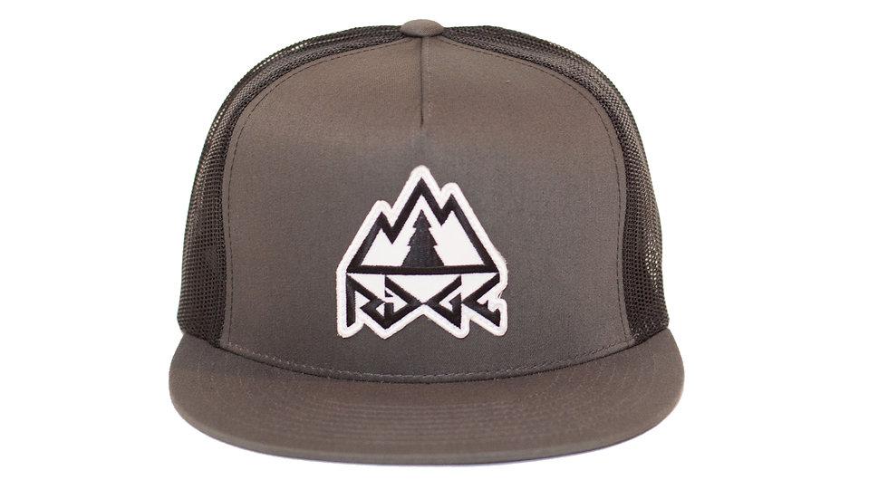 Ridge Logo Trucker Hat - Charcoal/Black