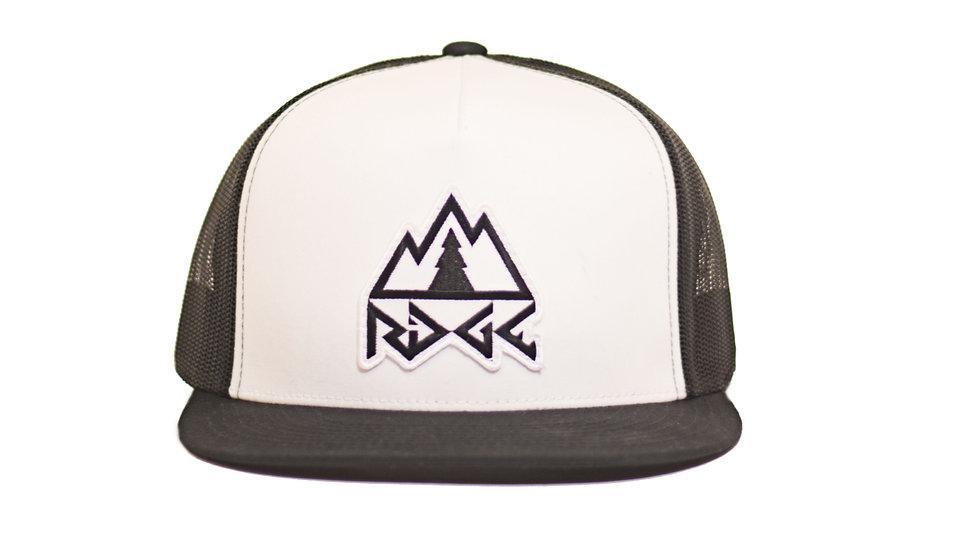 Ridge Logo Trucker Hat - White/Black