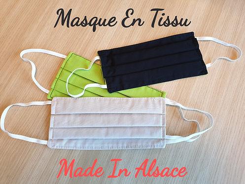 Masque En Tissu, Masque De Visage Anti Postillons, LOT DE 3