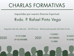Comienzo de las charlas formativas del curso 2020/2021