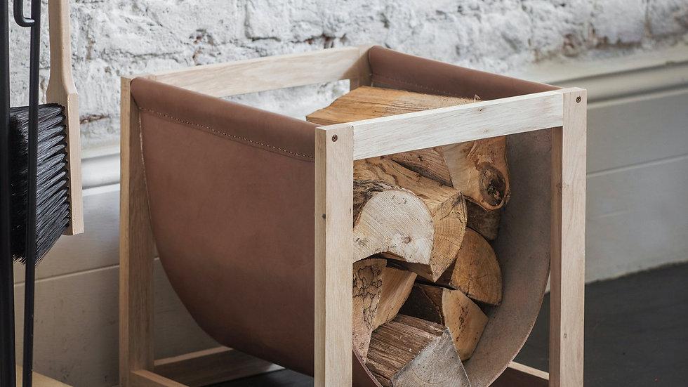 Leather Log Holder