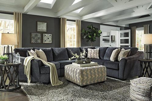 Eltmann Slate 3-Piece Sectional w/Cuddler