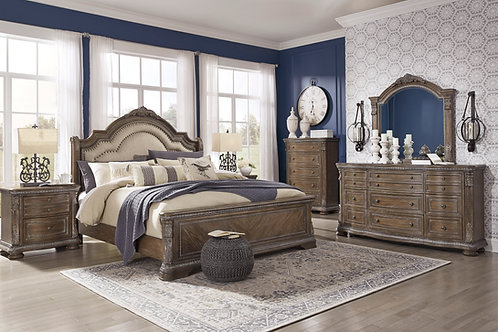 Charmond Queen Upholstered Bedroom Set