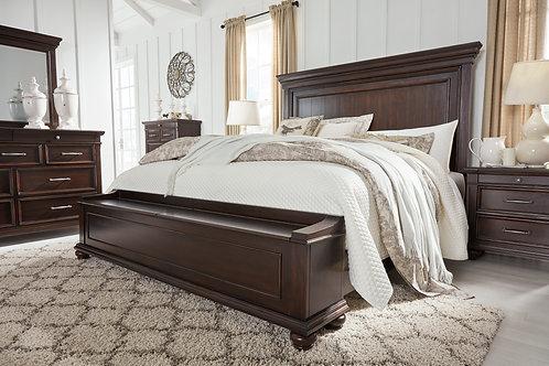 Brynhurst Walnut Queen Storage Panel Bed