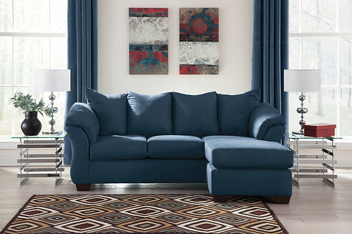 Darcy Blue Sofa Chaise