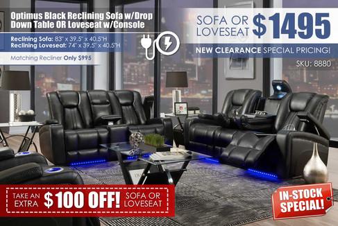 Optimus Black Reclining Sofa wDrop Table OR Loveseat_8880_Coupon.jpg