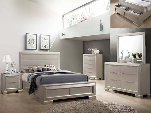 Paloma Queen Storage Bedroom Set