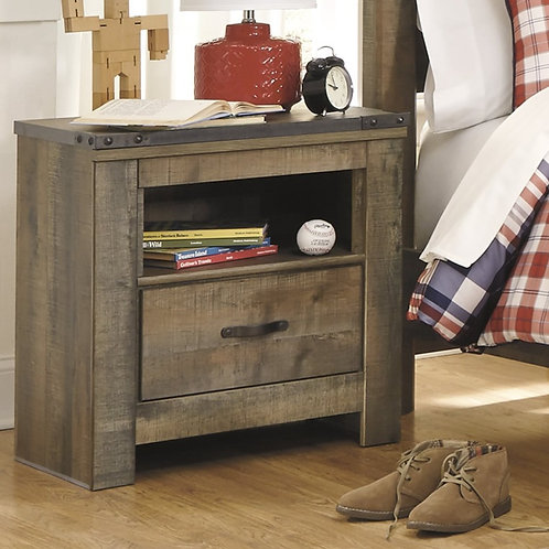 Trinell Rustic Brown 1-Drawer Nightstand