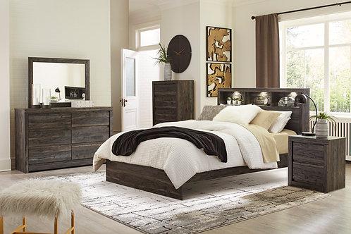 Vay Bay Charcoal Queen Bookcase Bedroom Set